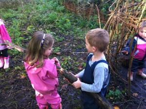 Wir haben Holz gefunden